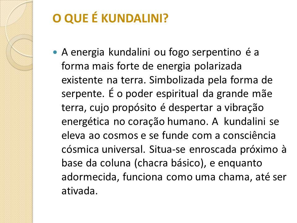 O QUE É KUNDALINI? A energia kundalini ou fogo serpentino é a forma mais forte de energia polarizada existente na terra. Simbolizada pela forma de ser