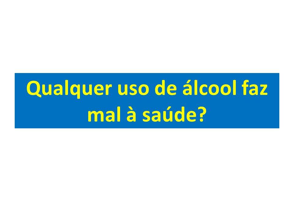 Qualquer uso de álcool faz mal à saúde?
