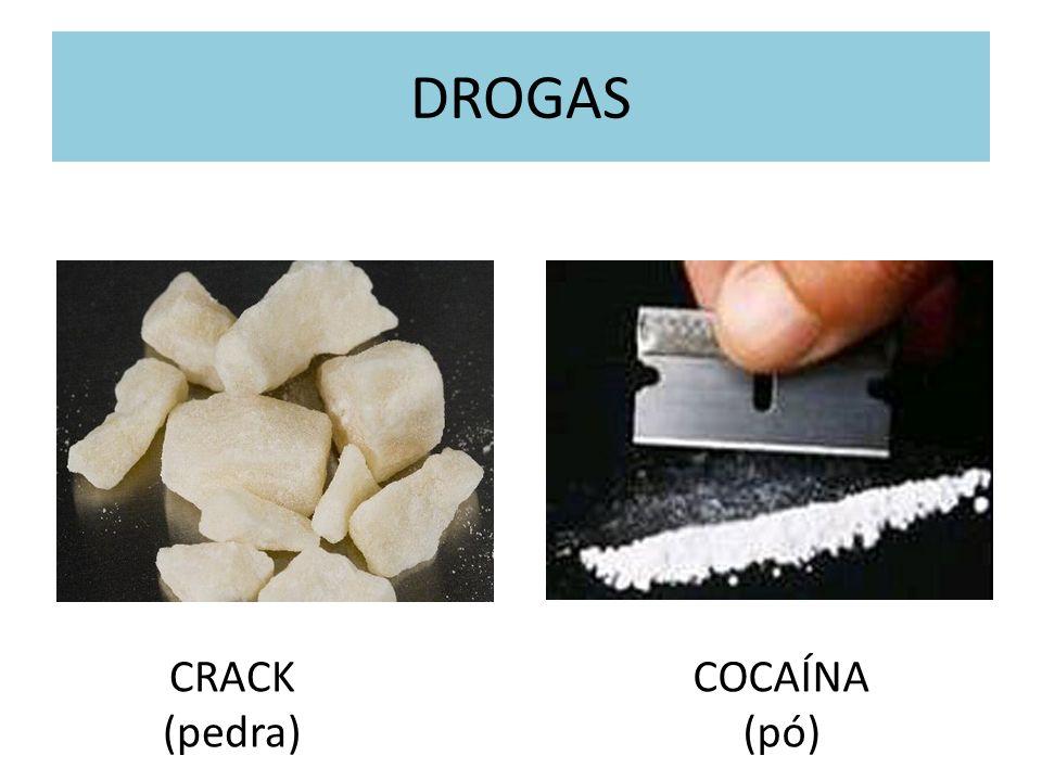 DROGAS CRACK (pedra) COCAÍNA (pó)