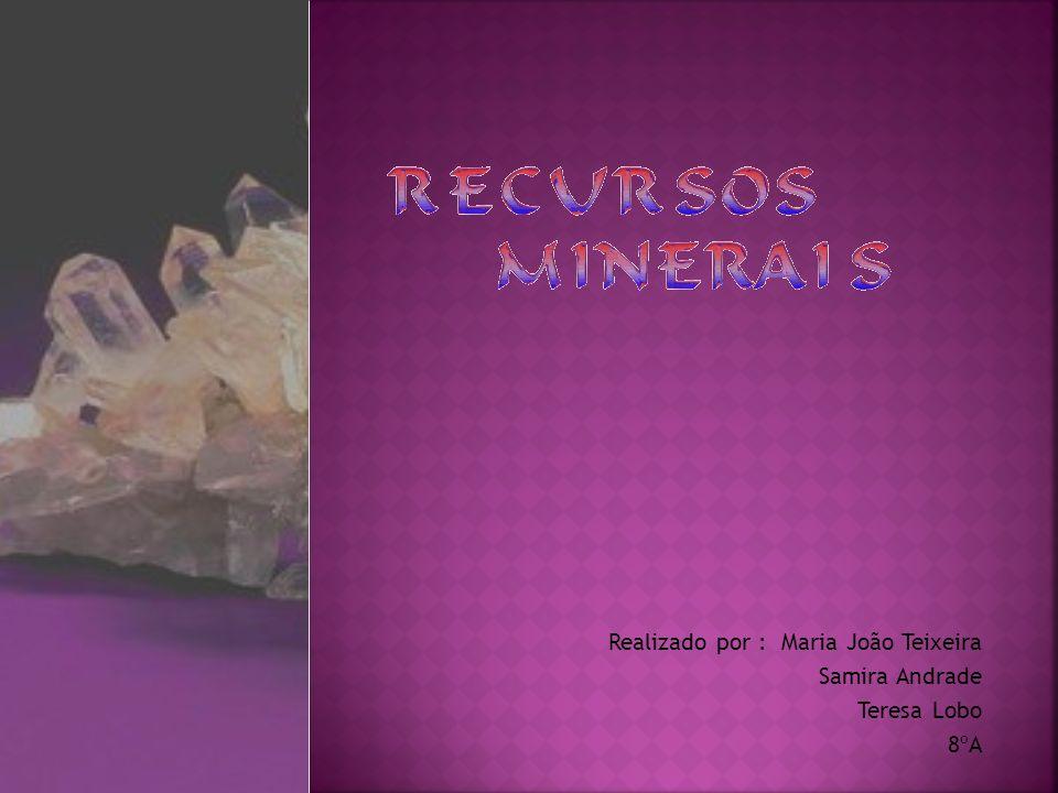 Recursos Minerais diaposit.1 Recursos Minerais Índicediaposit.2 Índice Tipos de Minerais diaposit.4 Tipos de Minerais Utilização dos minerais ao longo dos Tempos diaposit.6Utilização dos minerais ao longo dos Tempos Tp.