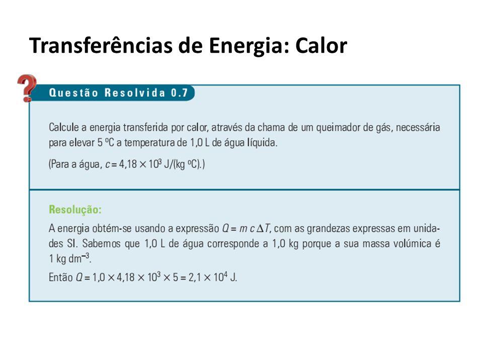 Transferências de Energia: Calor