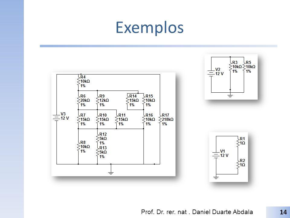 Exemplos Prof. Dr. rer. nat. Daniel Duarte Abdala 14
