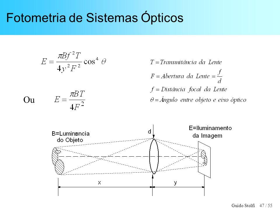 Guido Stolfi 47 / 55 Fotometria de Sistemas Ópticos Ou