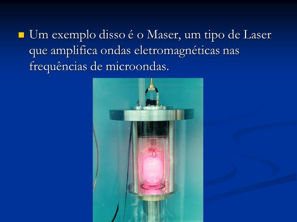 Um exemplo disso é o Maser, um tipo de Laser que amplifica ondas eletromagnéticas nas frequências de microondas. Um exemplo disso é o Maser, um tipo d