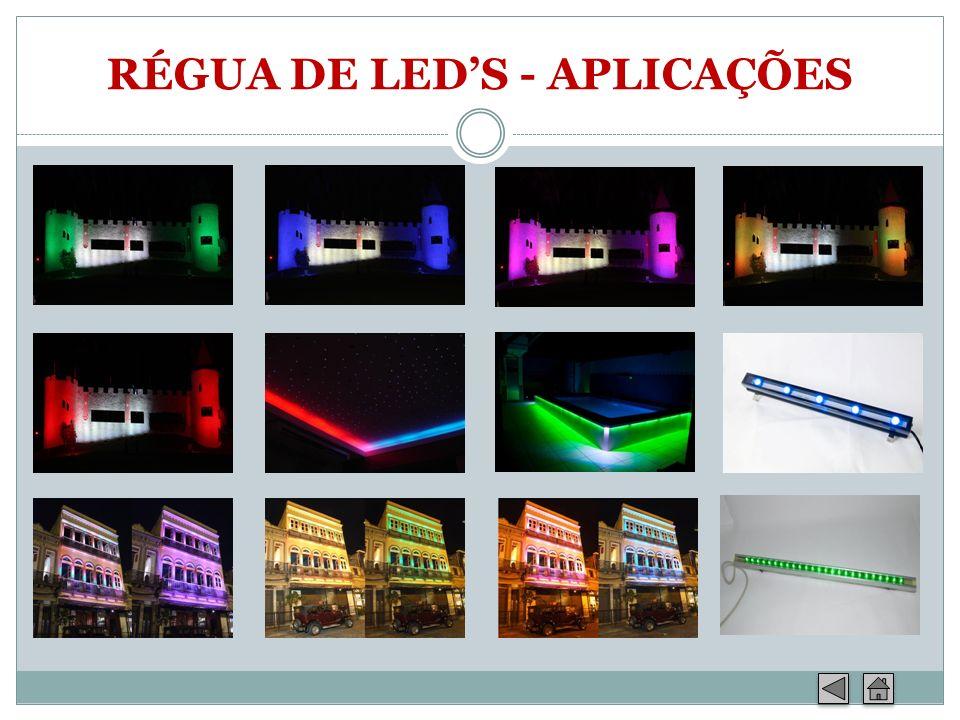 RÉGUA DE LEDS - APLICAÇÕES