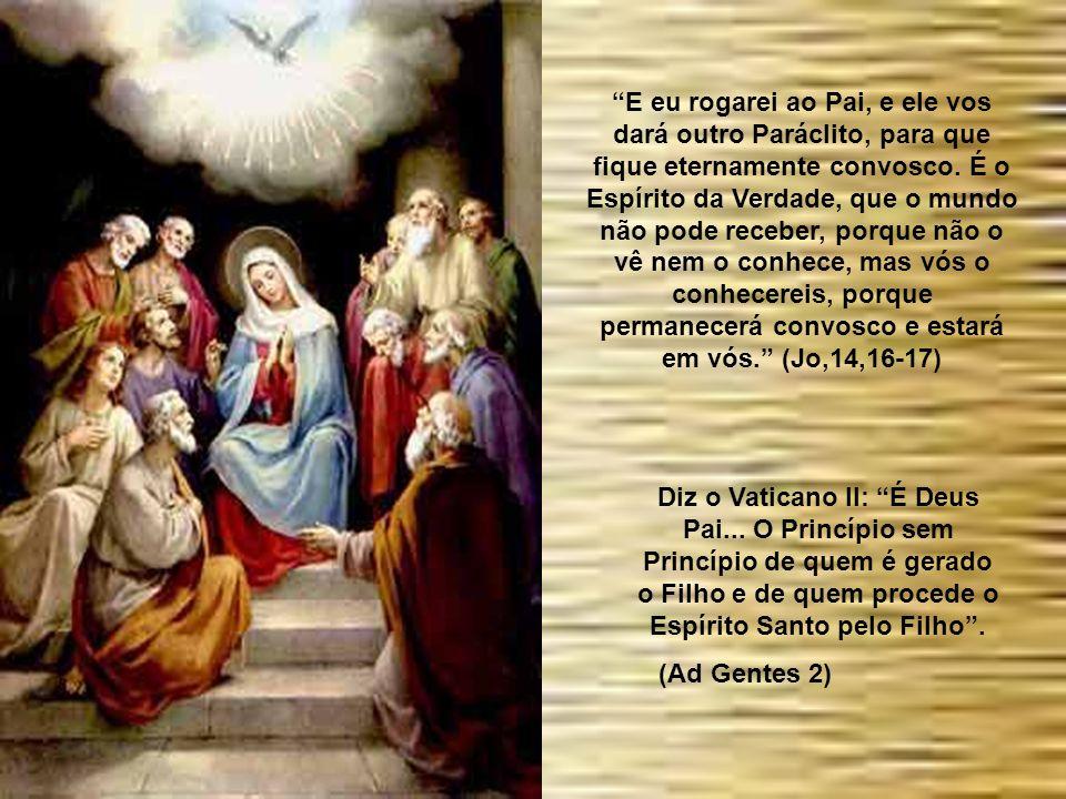 É o Espírito Santo quem desde o nascimento da Igreja dá a todos os povos o conhecimento do verdadeiro Deus; e une, numa só fé, a diversidade das raças
