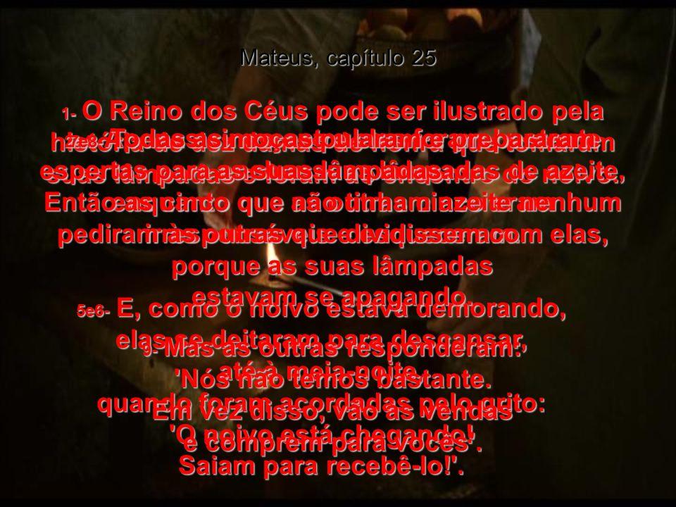 MATEUS, capítulo 25