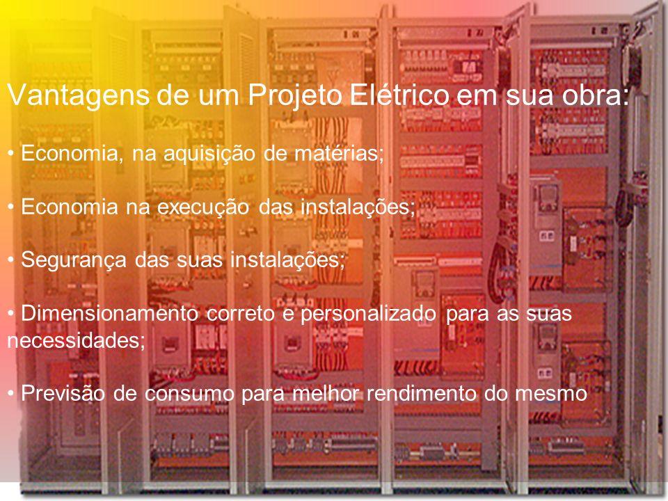 Projeto elétrico Um Projeto Elétrico é a previsão escrita da instalação, com todos os seus detalhes, localização dos pontos de utilização da energia e