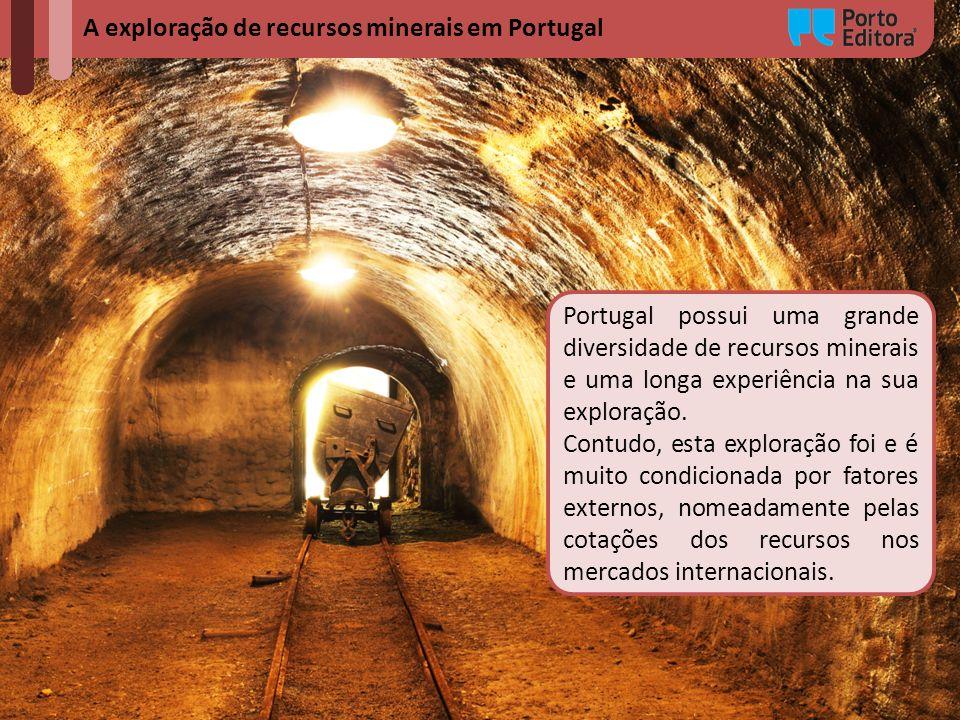 Portugal possui uma grande diversidade de recursos minerais e uma longa experiência na sua exploração. Contudo, esta exploração foi e é muito condicio