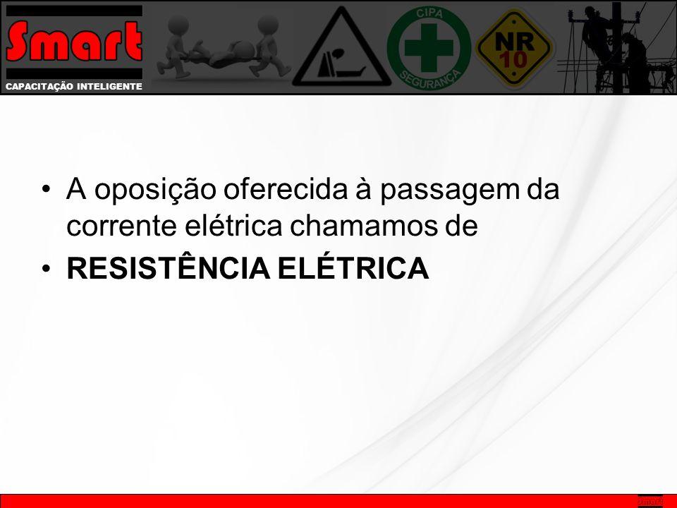 CAPACITAÇÃO INTELIGENTE A oposição oferecida à passagem da corrente elétrica chamamos de RESISTÊNCIA ELÉTRICA