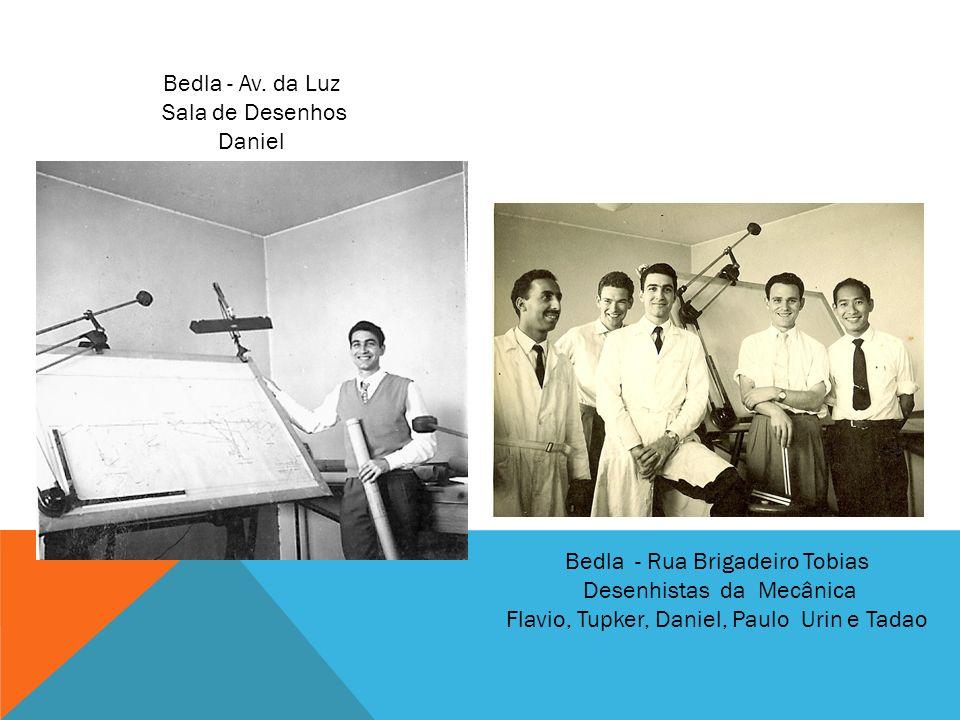 Bedla - Rua Brigadeiro Tobias Desenhistas da Mecânica Flavio, Tupker, Daniel, Paulo Urin e Tadao Bedla - Av. da Luz Sala de Desenhos Daniel