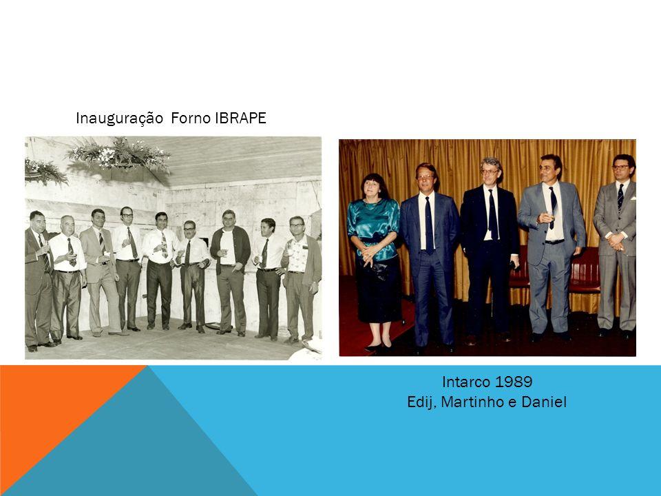 Inauguração Forno IBRAPE Intarco 1989 Edij, Martinho e Daniel
