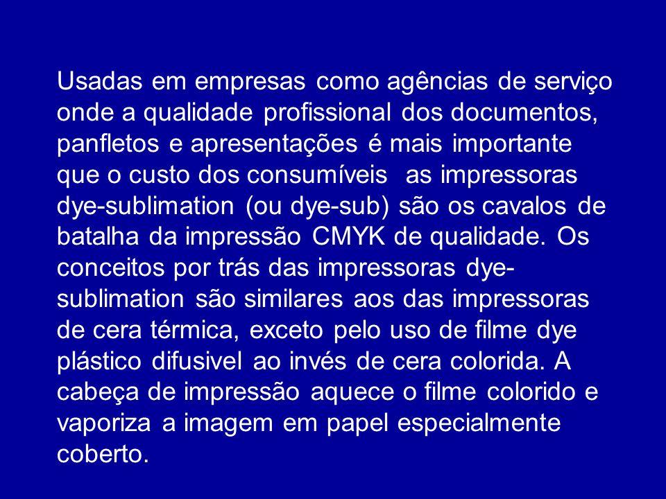 Usadas em empresas como agências de serviço onde a qualidade profissional dos documentos, panfletos e apresentações é mais importante que o custo dos