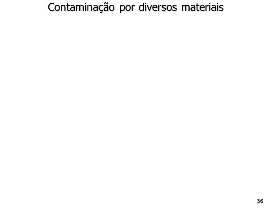 36 Contaminação por diversos materiais