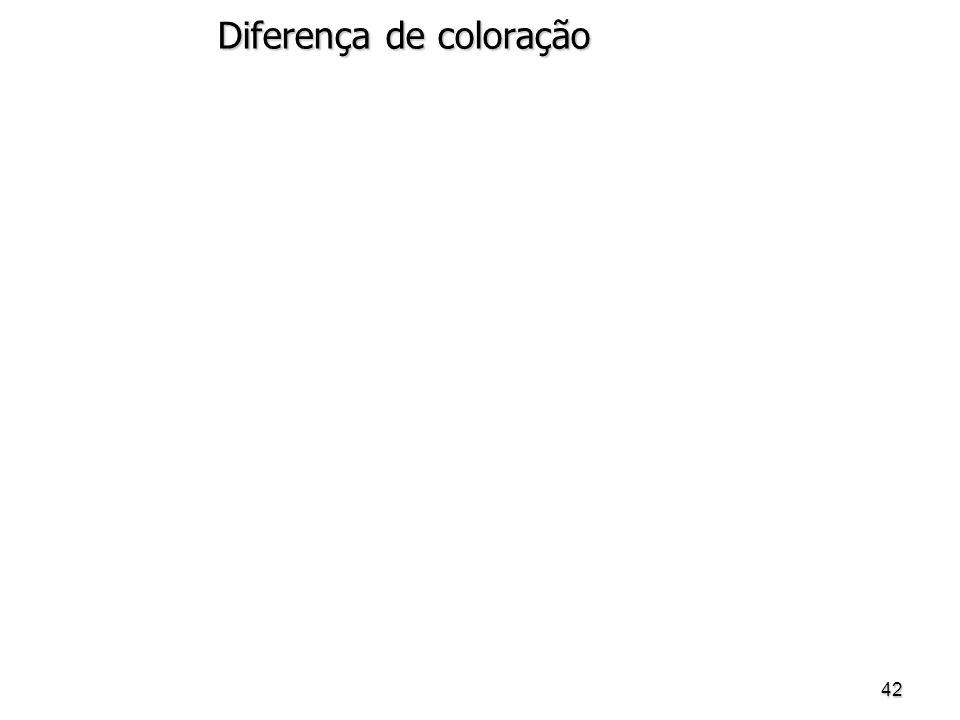 42 Diferença de coloração
