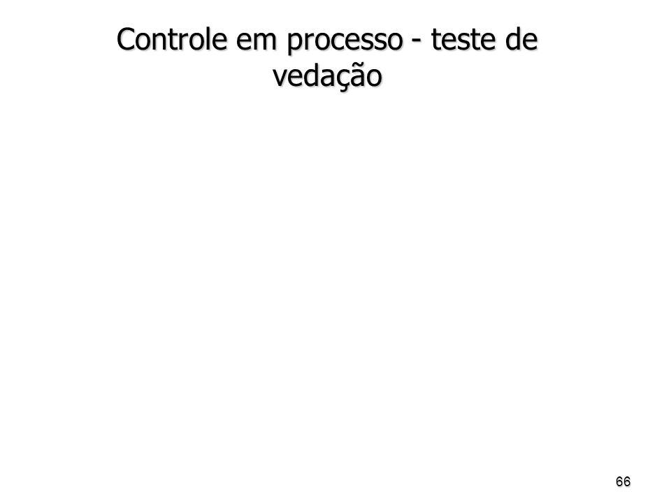 66 Controle em processo - teste de vedação
