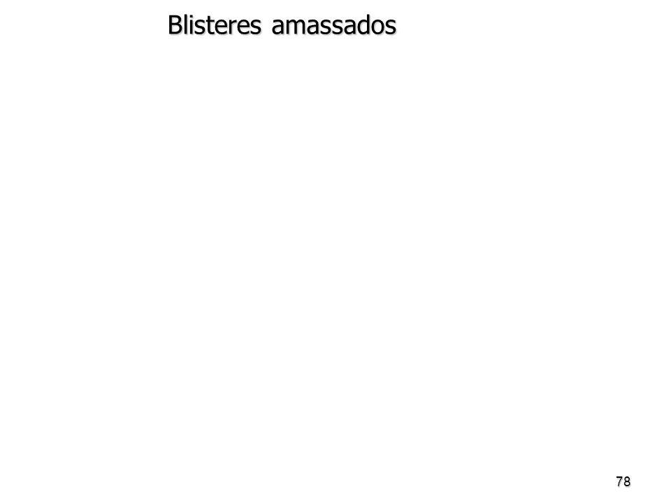 78 Blisteres amassados