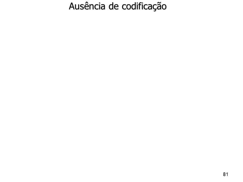 81 Ausência de codificação