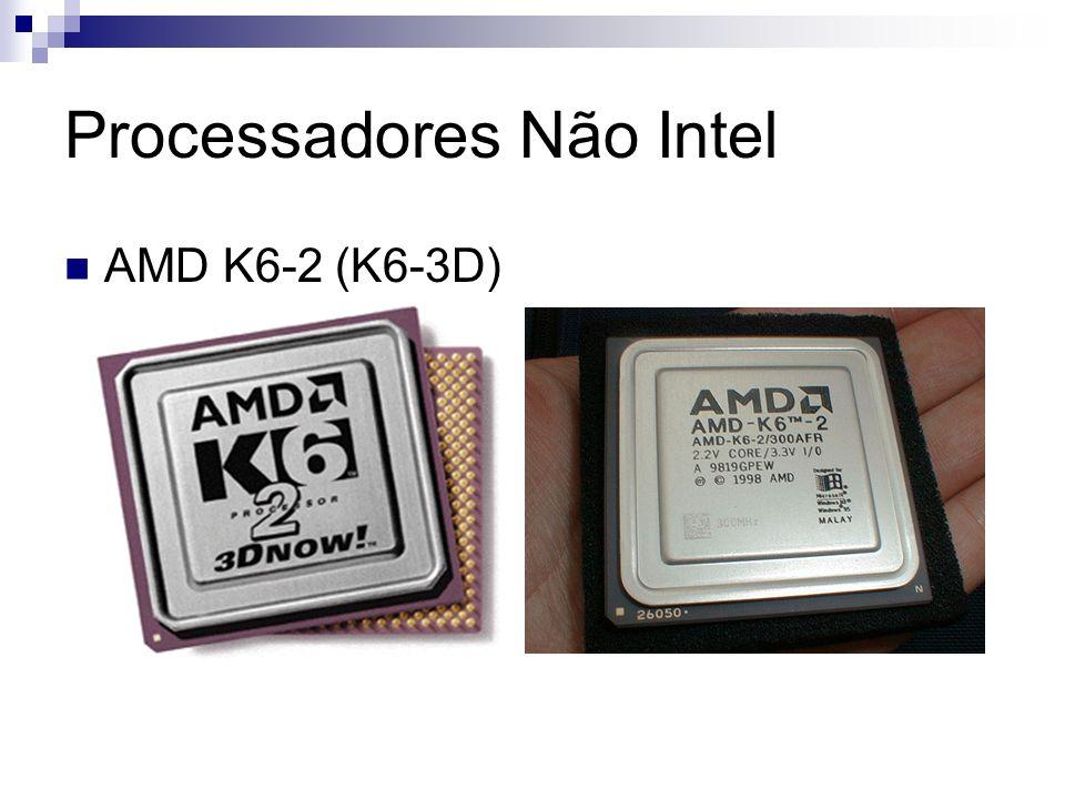 Processadores Não Intel AMD K6-2 (K6-3D)