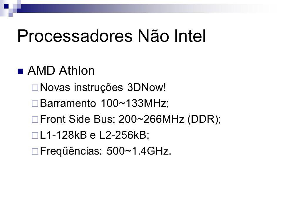 Processadores Não Intel AMD Athlon Novas instruções 3DNow.