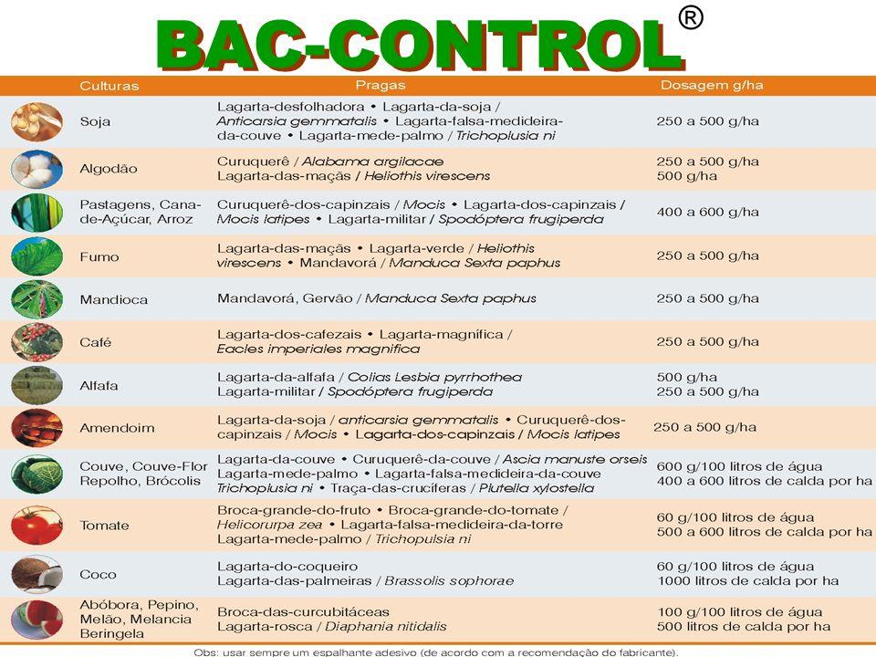 ® Para o controle de lagartas em geral Deve-se considerar Idade da planta enfolhamento aplicação Lagarta alvo biologia localização na planta SOJA