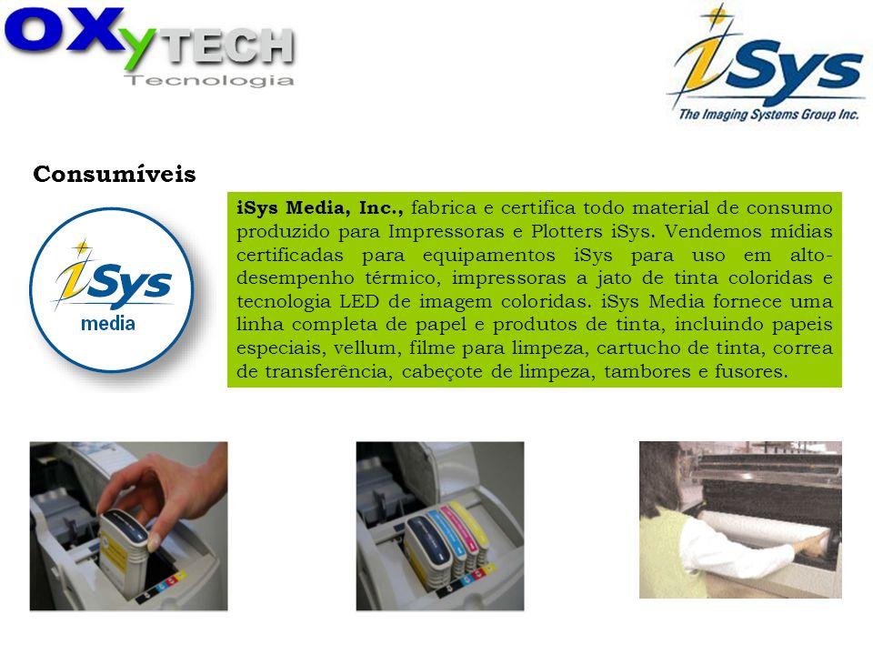 Consumíveis iSys Media, Inc., fabrica e certifica todo material de consumo produzido para Impressoras e Plotters iSys. Vendemos mídias certificadas pa