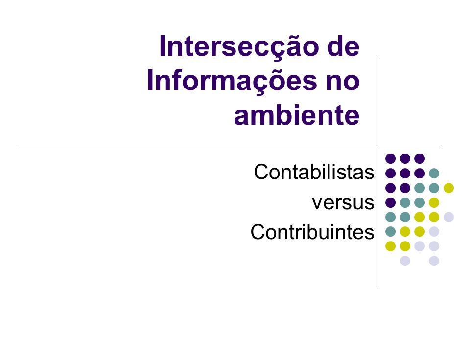 Intersecção de Informações no ambiente Contabilistas versus Contribuintes