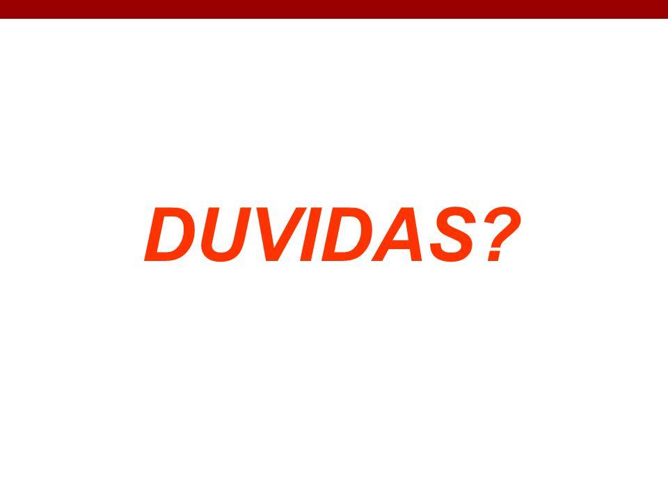 DUVIDAS?