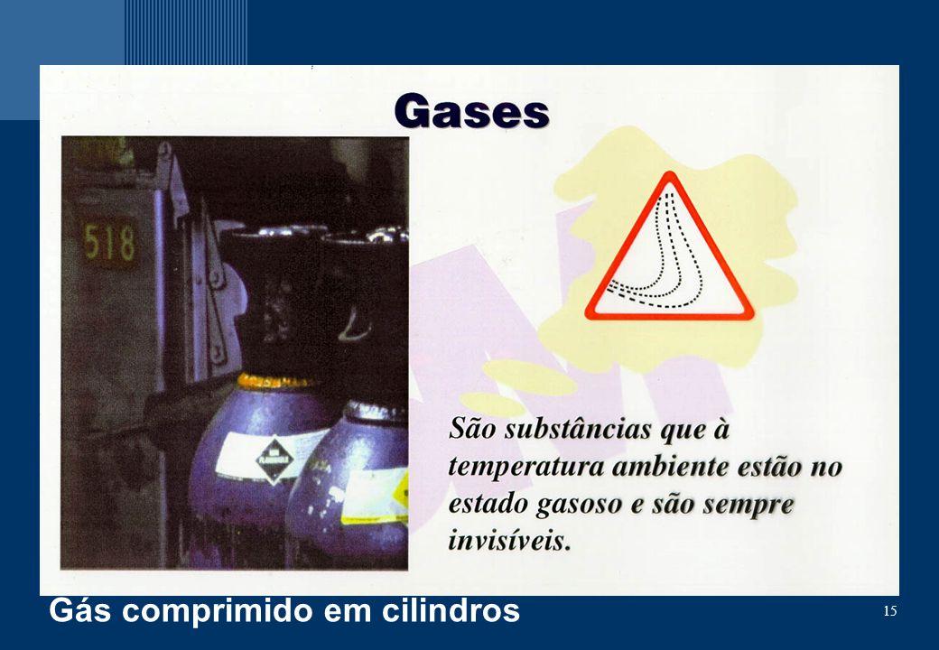 15 Gás comprimido em cilindros