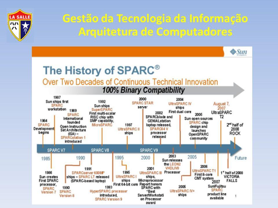 Gestão da Tecnologia da Informação Arquitetura de Computadores Processadores Arquitetura MIPS