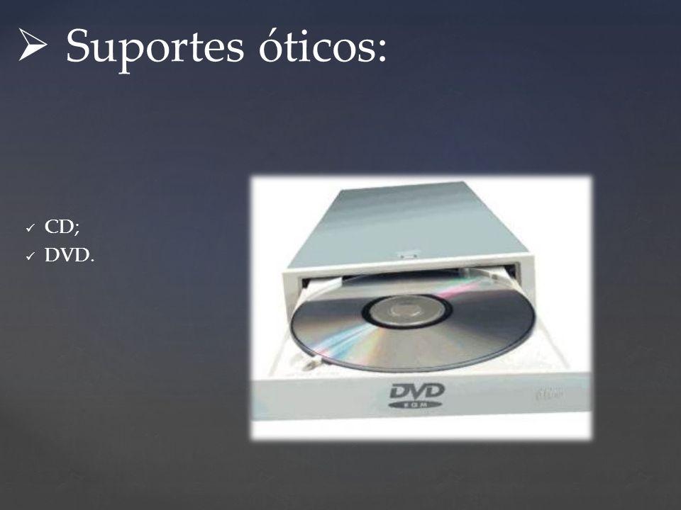 CD; DVD. Suportes óticos: