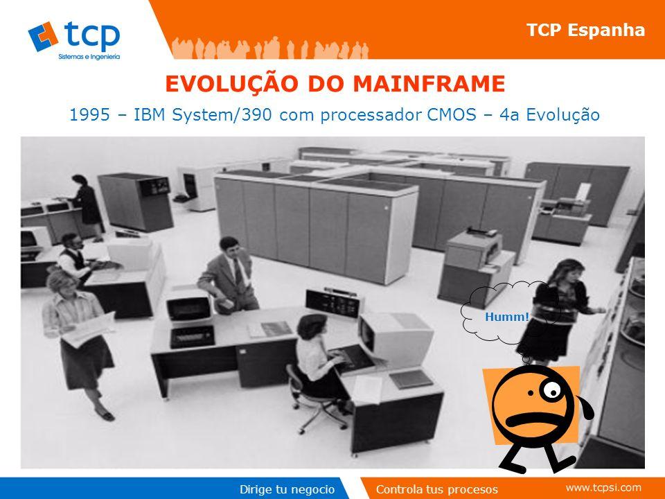 Dirige tu negocioControla tus procesos TCP Espanha EVOLUÇÃO DO MAINFRAME 1995 – IBM System/390 com processador CMOS – 4a Evolução Humm!