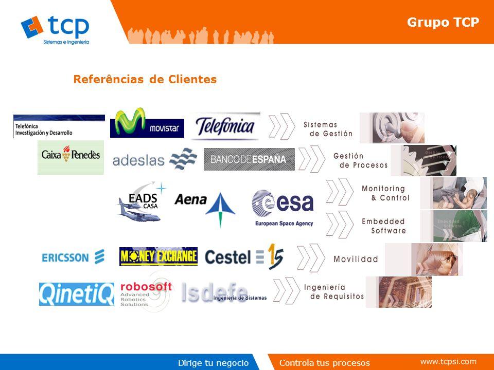 Dirige tu negocioControla tus procesos Referências de Clientes Grupo TCP