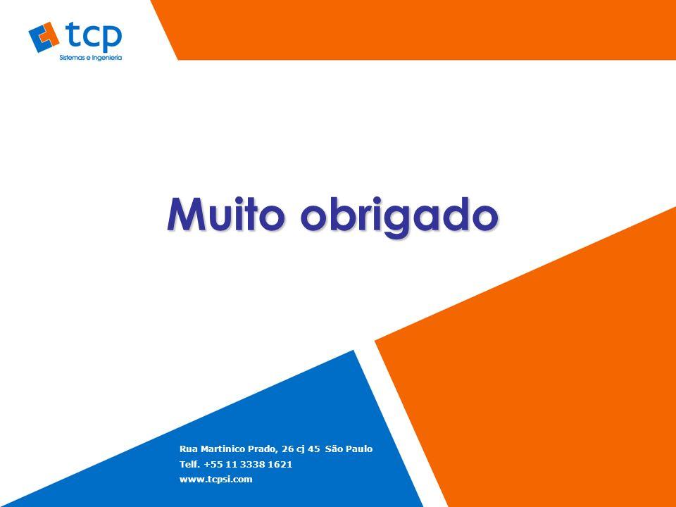 Muito obrigado Rua Martinico Prado, 26 cj 45 São Paulo Telf. +55 11 3338 1621 www.tcpsi.com