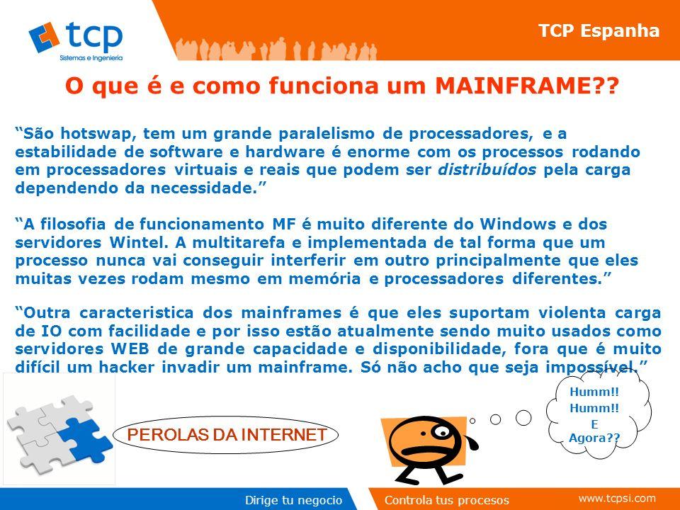 Dirige tu negocioControla tus procesos TCP Espanha O que é e como funciona um MAINFRAME?.