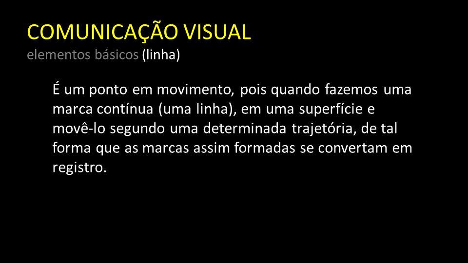 COMUNICAÇÃO VISUAL elementos básicos (linha) Nas artes visuais, a linha tem, por sua própria natureza, uma enorme energia.