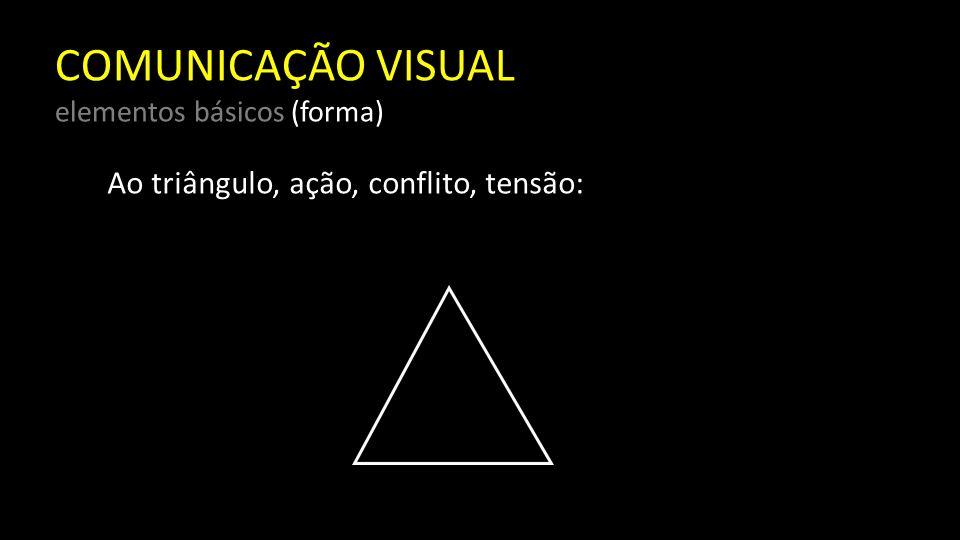 COMUNICAÇÃO VISUAL elementos básicos (forma) Ao círculo, infinitude, calidez, proteção: