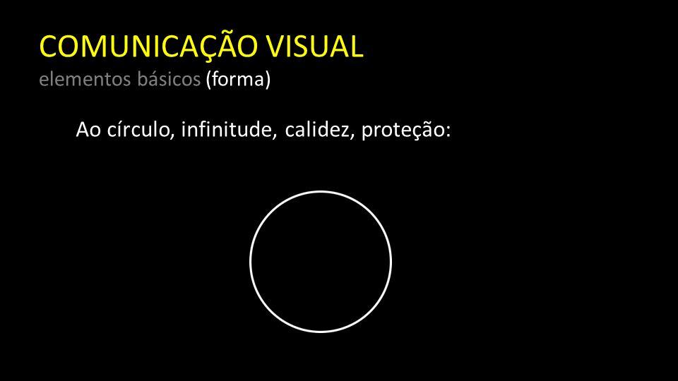 COMUNICAÇÃO VISUAL elementos básicos (forma) Resumindo, cada uma das formas básicas tem suas características específicas, e a cada uma se atribui uma grande quantidade de significados, alguns por associação, outros por nossas próprias percepções.