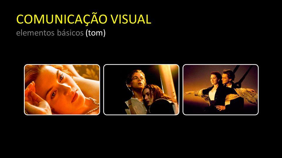 COMUNICAÇÃO VISUAL elementos básicos (cor) Ela é um elemento de visualidade que se caracteriza pela sua carga de sensualidade, visto que nos aguça os sentidos.