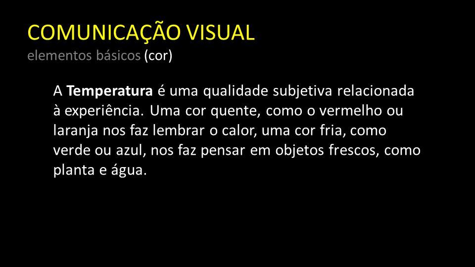 COMUNICAÇÃO VISUAL elementos básicos (textura) É o elemento visual que com freqüência serve de substituto para as qualidades de outro sentido, o tato.