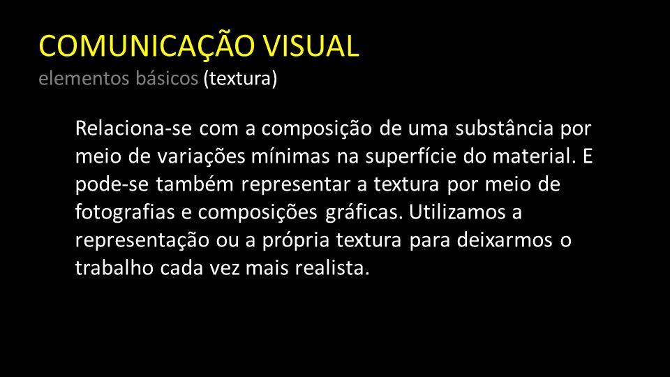 COMUNICAÇÃO VISUAL elementos básicos (textura)