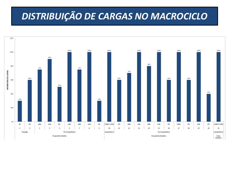 DISTRIBUIÇÃO DE CARGAS NO MACROCICLO