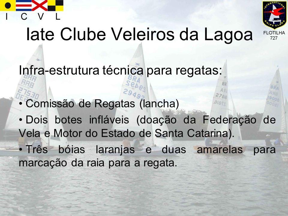 Infra-estrutura técnica para regatas: Comissão de Regatas (lancha) Dois botes infláveis (doação da Federação de Vela e Motor do Estado de Santa Catari