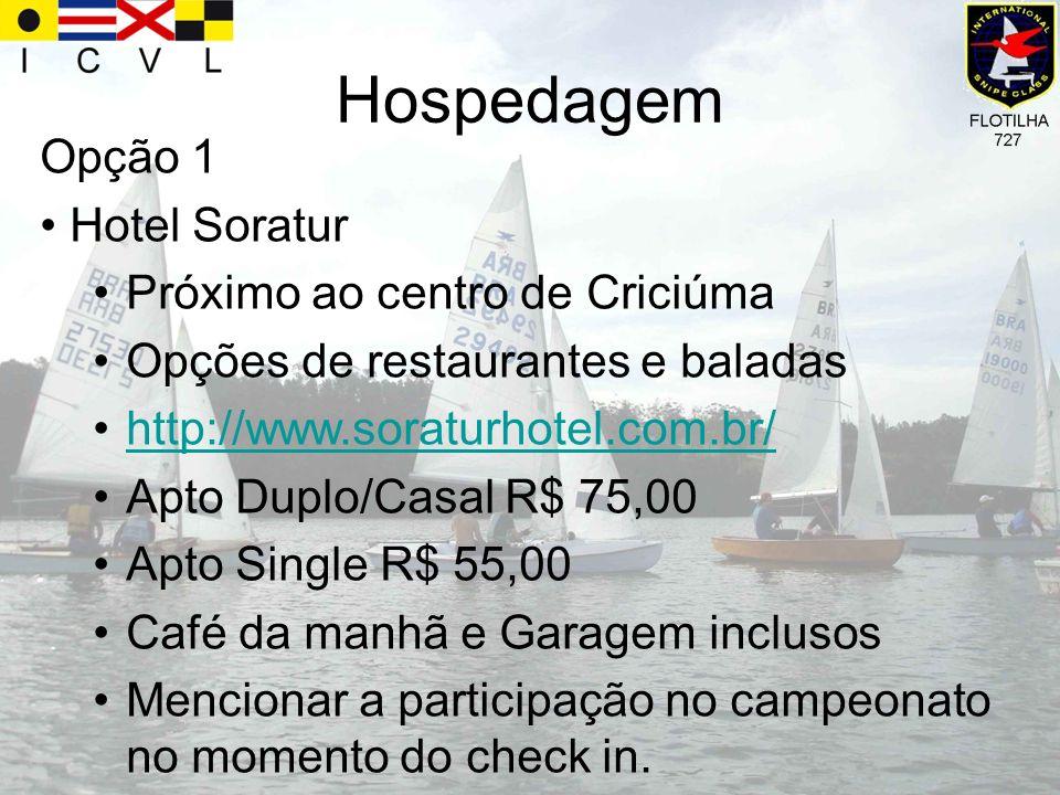 Hospedagem Opção 1 Hotel Soratur Próximo ao centro de Criciúma Opções de restaurantes e baladas http://www.soraturhotel.com.br/ Apto Duplo/Casal R$ 75