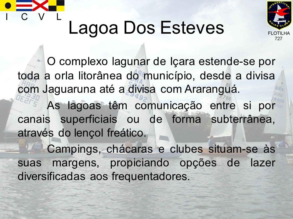 Lagoa Dos Esteves O complexo lagunar de Içara estende-se por toda a orla litorânea do município, desde a divisa com Jaguaruna até a divisa com Ararang