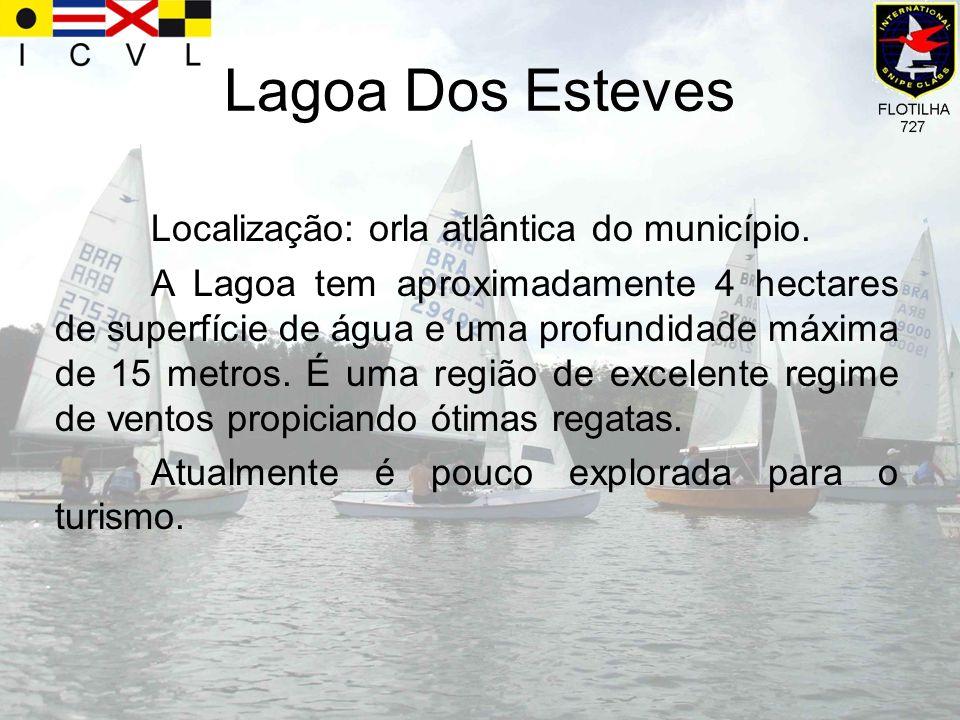 Lagoa Dos Esteves Localização: orla atlântica do município. A Lagoa tem aproximadamente 4 hectares de superfície de água e uma profundidade máxima de