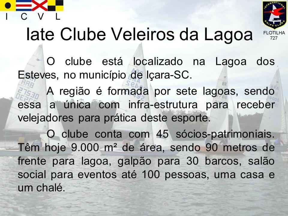 Iate Clube Veleiros da Lagoa O clube está localizado na Lagoa dos Esteves, no município de Içara-SC. A região é formada por sete lagoas, sendo essa a
