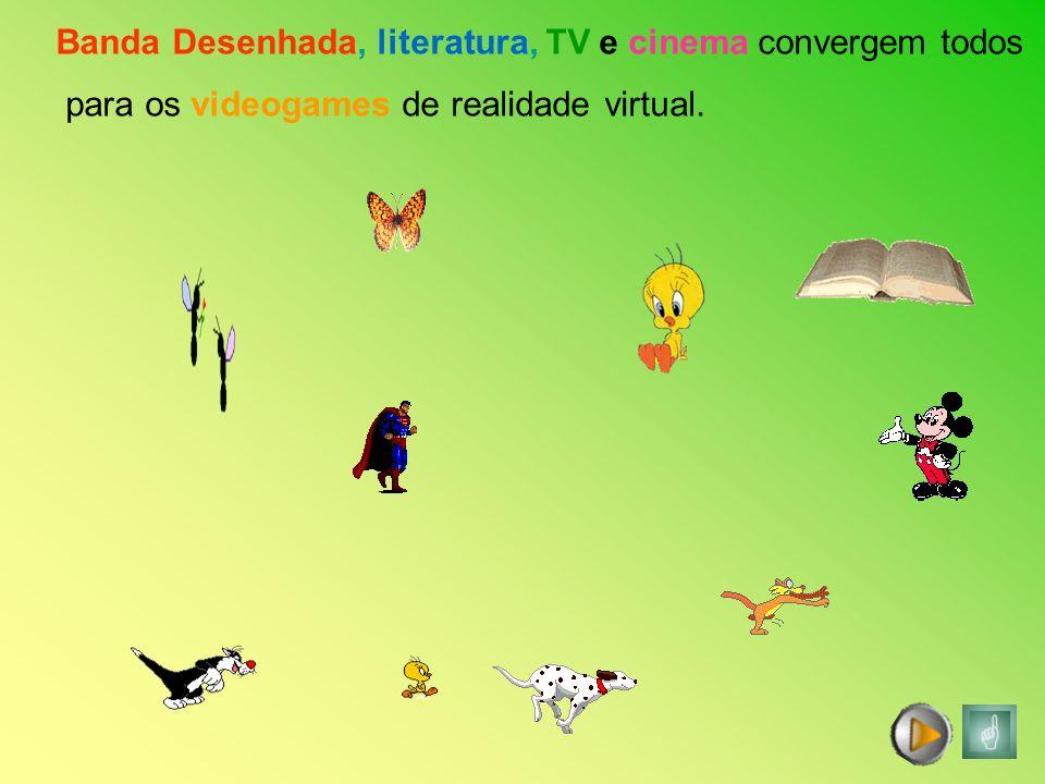 Banda Desenhada, literatura, TV e cinema convergem todos para os videogames de realidade virtual.