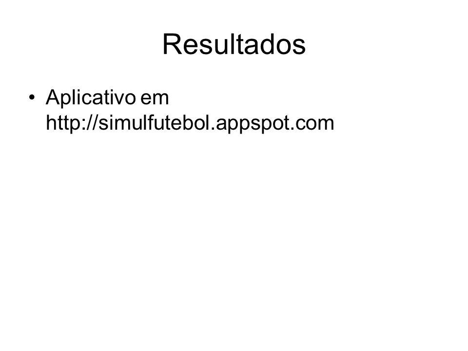 Resultados Aplicativo em http://simulfutebol.appspot.com