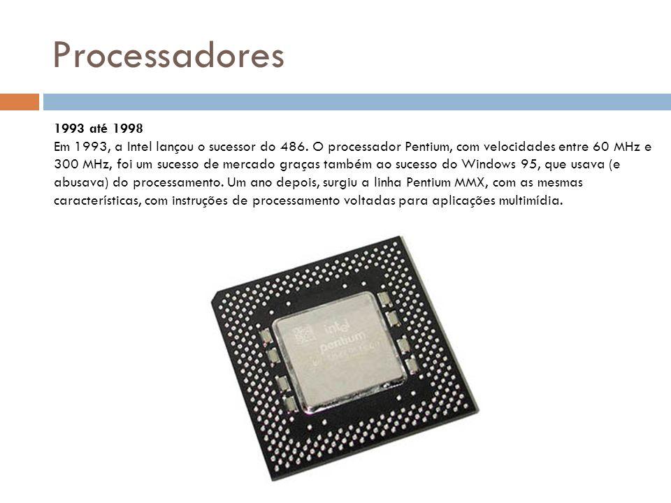 Processadores No ano seguinte, a AMD lançou seu primeiro processador rival do Pentium feito com tecnologia própria.